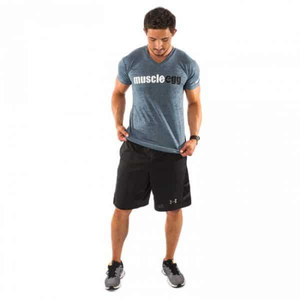 Men's MuscleEgg V-neck Burnout Shirt