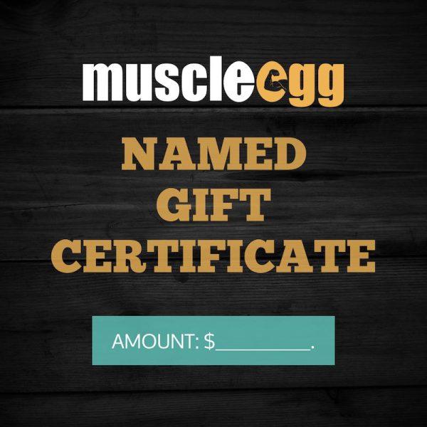 Named Gift Certificate