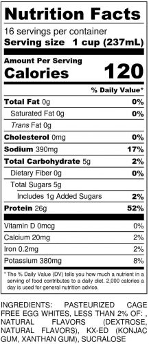 Cake Batter Gallon Nutritional
