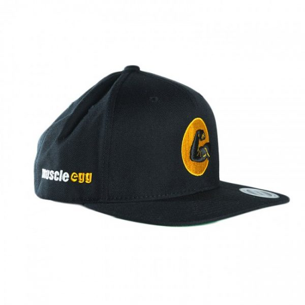 Black MuscleEgg Flexing Arm Hat – Snapback