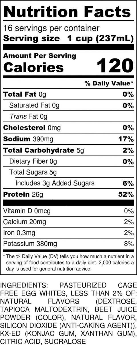 Strawberry Gallon Nutritional