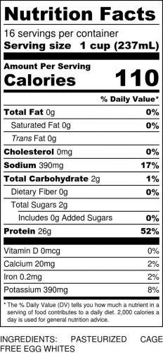 Original Gallon Nutritional