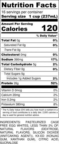 Keylime Gallon Nutritional