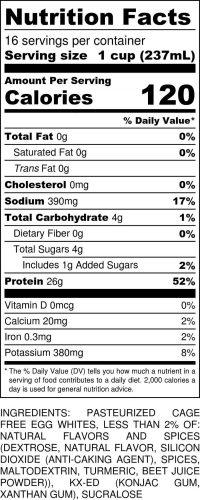 Pumpkin Spice Gallon Nutritional