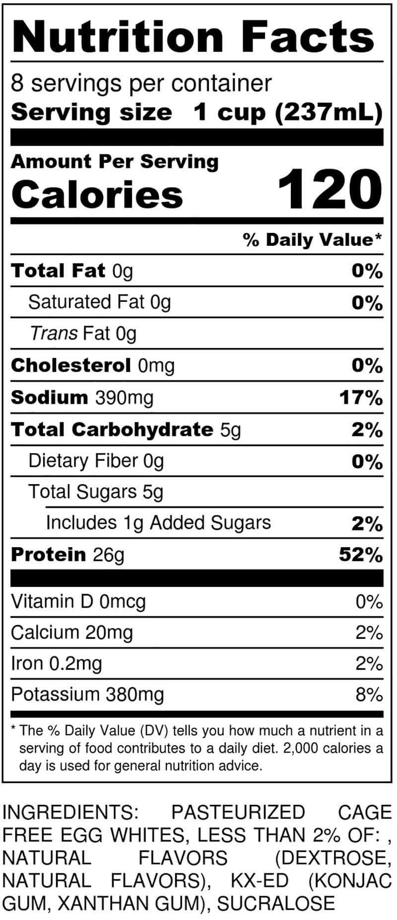 Cake Batter Half-Gallon Nutritional