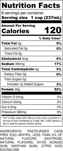 Key Lime Half-Gallon Nutritional