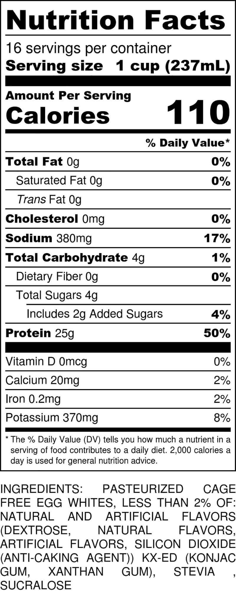 Fruit Cereal Gallon Nutritional