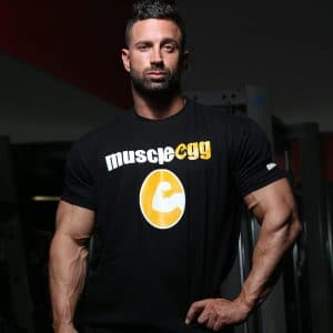 "Men's Black MuscleEgg ""Hero"" Shirt"