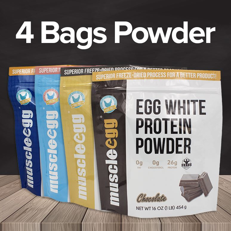 4 Bags of MuscleEgg Powder