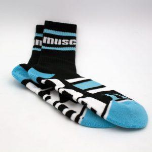 """MuscleEgg Women's Blue """"Fuel"""" Socks"""