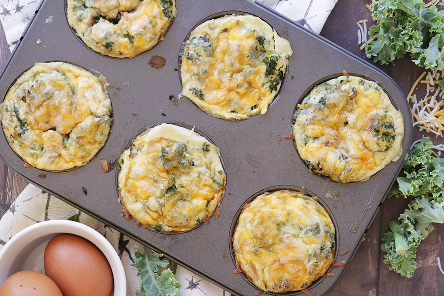 Kale Egg Muffins with Sausage