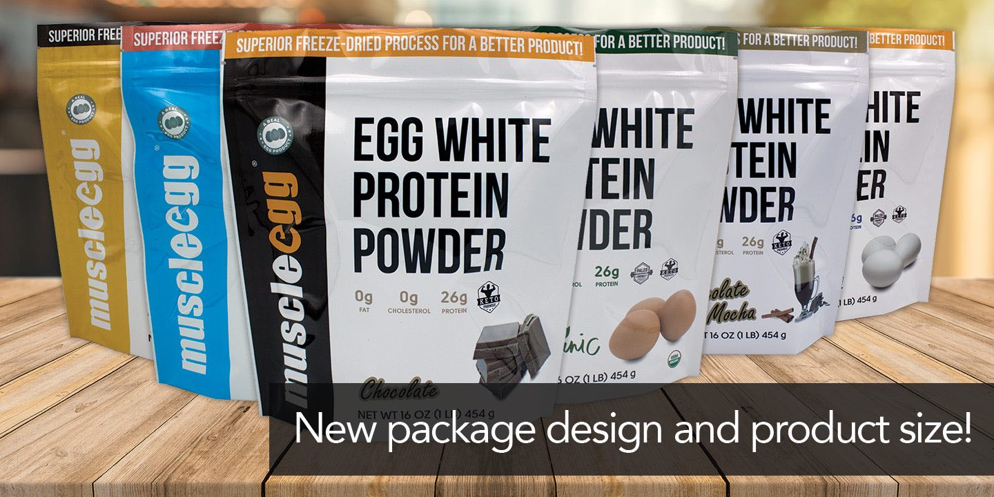 New package design and product size for all powder products.