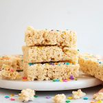 cake batter rice krispies treats