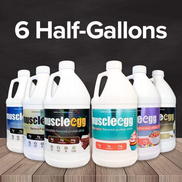 Autoship MuscleEgg Liquid 6 Half-Gallons