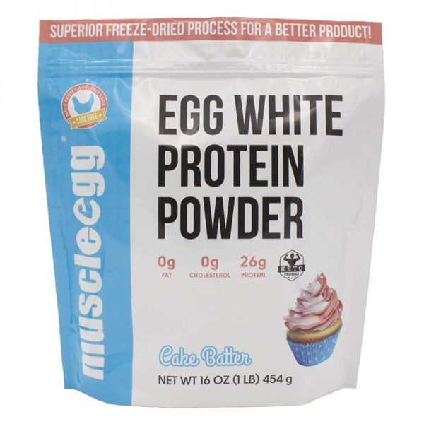 NEW!! Cake Batter Egg White Protein Powder