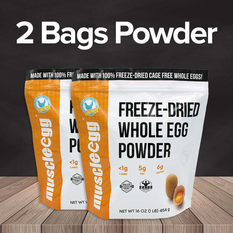 2 Bags of MuscleEgg Powder