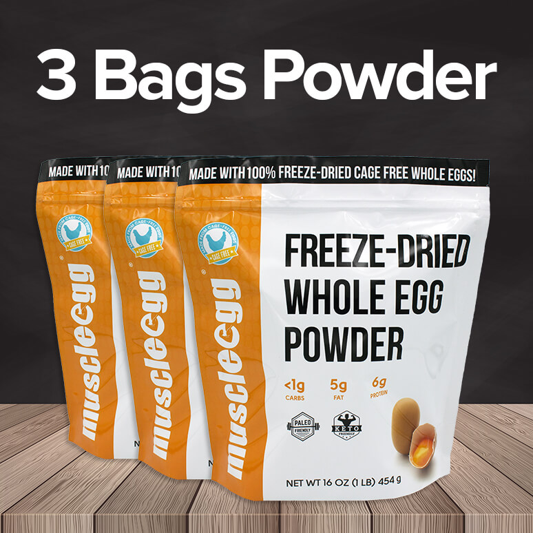 3 Bags of MuscleEgg Powder